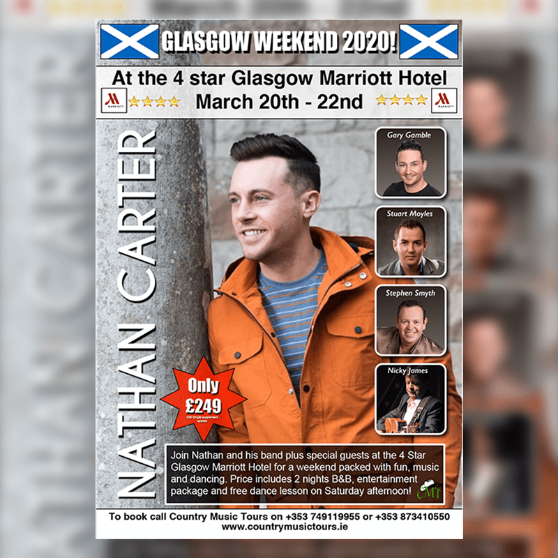 Nathan Carter Weekend in Glasgow
